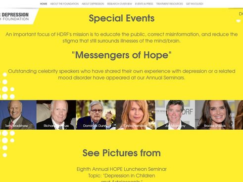 Hope for Depression Special Events page